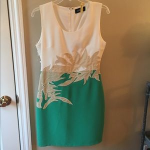 Dresses & Skirts - Green and white dress.